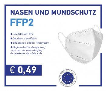 FFP2 Schutzmasken Made in EU. 0,49€ Auf Lager Wien